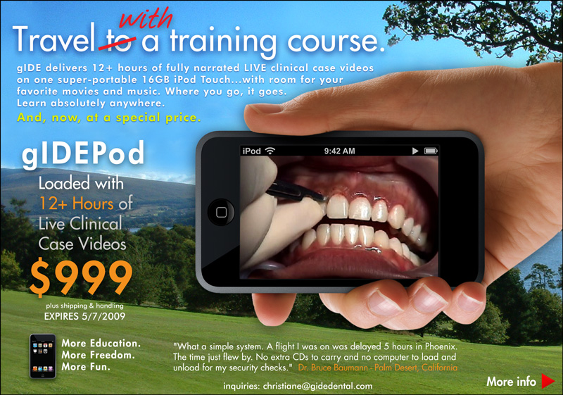 12+ Hours of LIVE clinical case videos. Fully narrated. On an iPod Touch. Special savings. Expires May 7